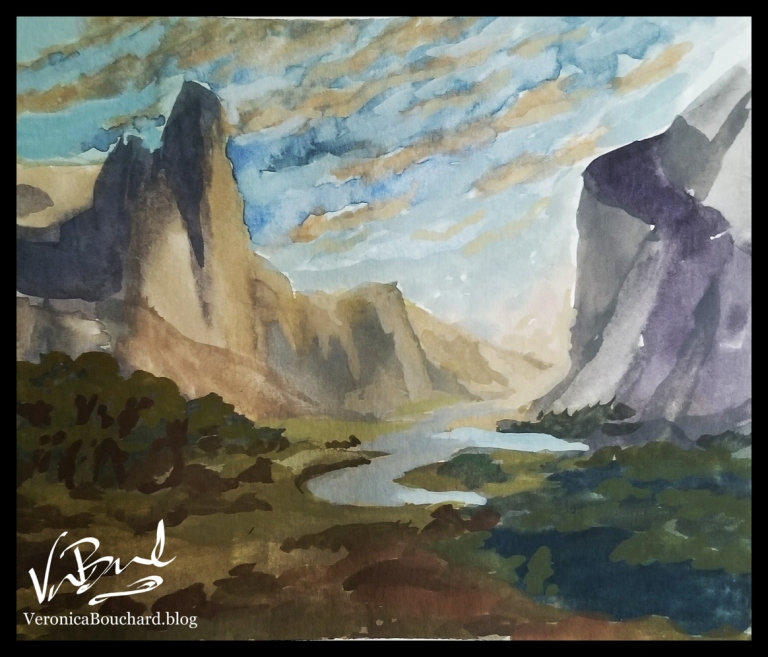 Mountains and Valley Landscape