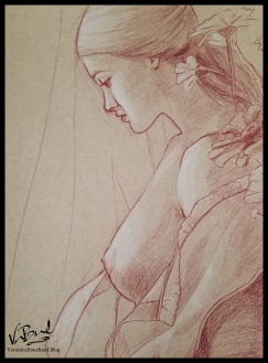 Drawing on Toned paper by Veronica Bouchard