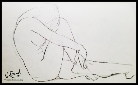Figure Study in pencil by Veronica Bouchard