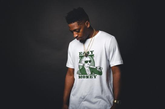 """Custom softball tee shirt for a team called """"Easy Money"""""""