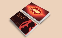 Custom Business Card and Logo for Girl on Fire