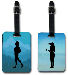 Custom luggage tags for a travel company